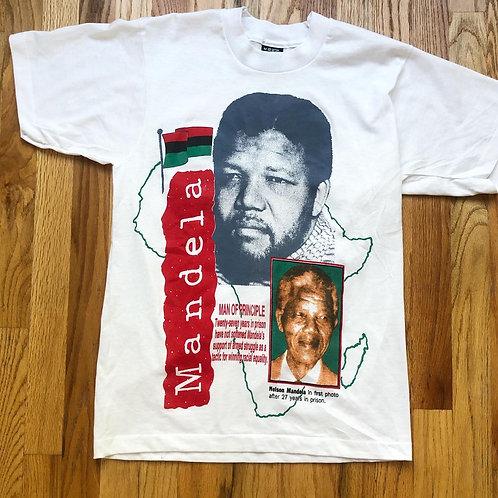 Vintage Screen Stars Nelson Mandela T Shirt Tee Sz M