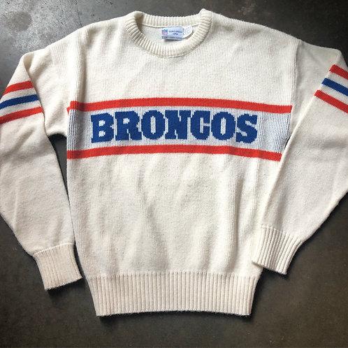 Vintage 80s Cliff Engle Denver Broncos Crewneck Sweater Sz S