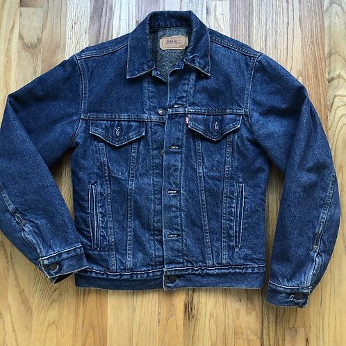 Vintage Levi's USA Blanket Lined Denim Jean Jacket Sz 36 (S)