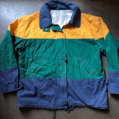 Vintage Izzi Reversible Color Block Jacket Sz M