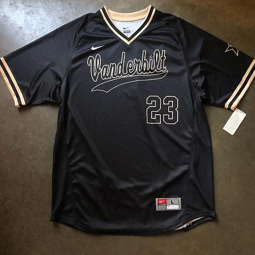 NWT Nike Vanderbilt Commodores Sample Team Issued Baseball Jersey Sz L