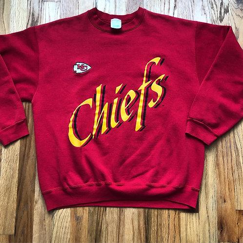 Vintage Kansas City Chiefs Crewneck Sweatshirt Sz L