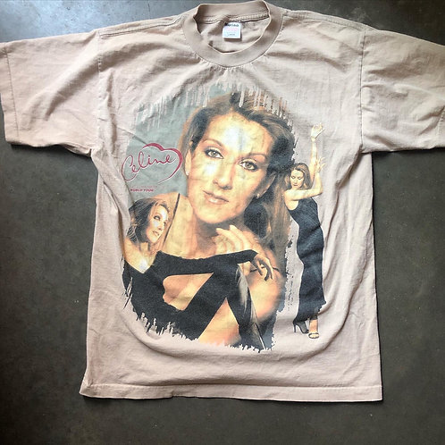 Vintage Murina 1999 Celine Dione Let's Talk About Love World Tour T Shirt Tee Sz
