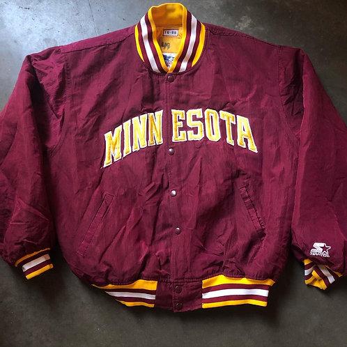 Vintage Starter Minnesota Golden Gophers Bomber Jacket Sz XL