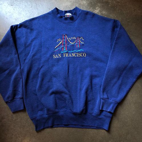 Vintage San Fransisco Golden Gate Bridge Crewneck Sweatshirt Sz XL