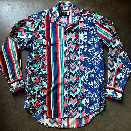 Vintage Frontier Series Western Wear Button Up Shirt Sz M
