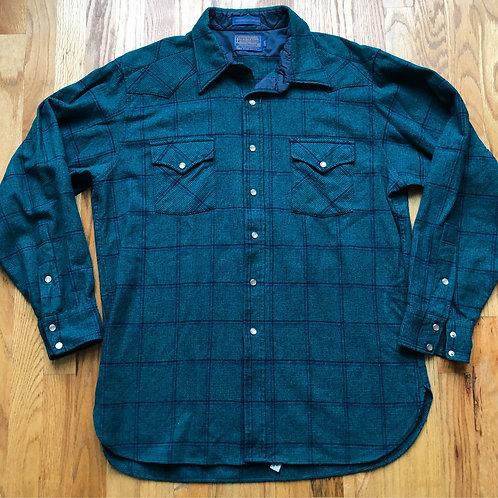 Vintage Pendleton High Grade Western Wear Flannel Button Up Shirt Sz XL