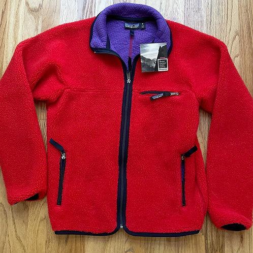 NWT Vintage 1990 Retro X Deep Pile Fleece Jacket Sz S