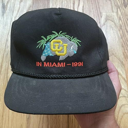 Colorado Buffaloes In Miami National Championship Snapback Hat