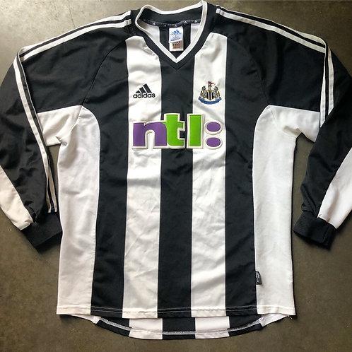 Adidas 2001-2003 Newcastle United FC Long Sleeve Jersey Kit Sz L