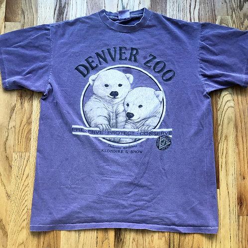 Vintage Oneita Denver Zoo Klondike & Snow T Shirt Tee Sz XL