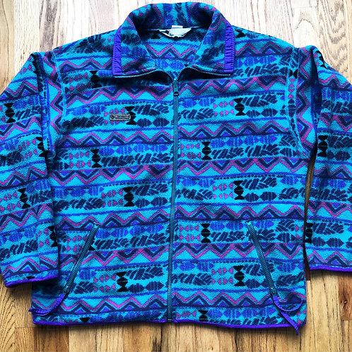 Vintage Columbia Aztec Fleece Jacket Sz M