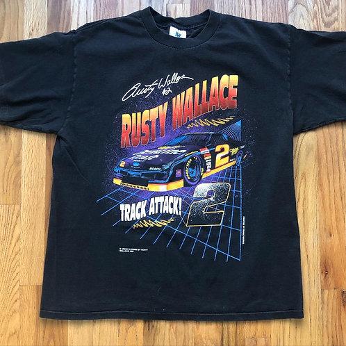 Vintage Rusty Wallace NASCAR T Shirt Tee Sz XL