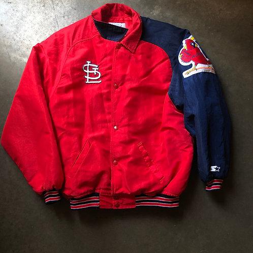 Vintage Starter St Louis Cardinals Bomber Jacket Sz S