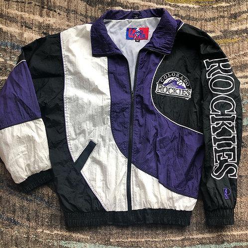 Vintage Pro Player Colorado Rockies Windbreaker Jacket Sz M