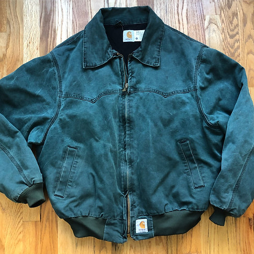Vintage Carhartt Forest Green Duck Jacket Sz 2XL