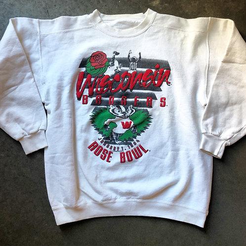 Vintage 1994 Wisconsin Badgers Rose Bowl Sweatshirt Sz L