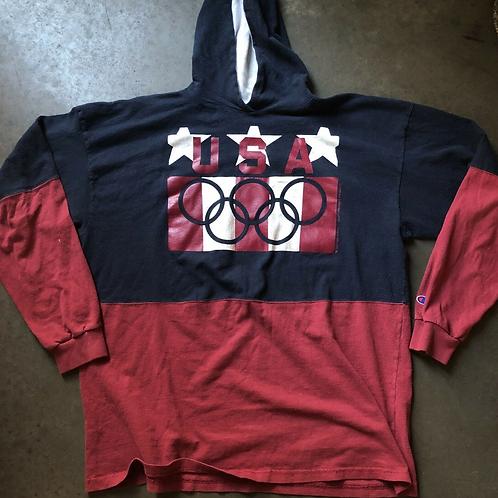 Vintage Champion Team USA Olympic Sweatshirt Sz 2XL