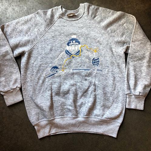 Vintage BW I Love Chicago Heather Gray Sweatshirt Sz L/XL