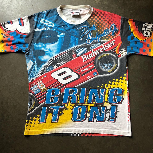 Vintage Chase Dale Earnhardt Jr All Over Print T Shirt Tee Sz M