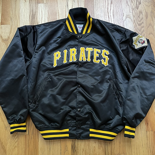 Vintage Starter Pittsburgh Pirates Satin Bomber Jacket Sz L/XL