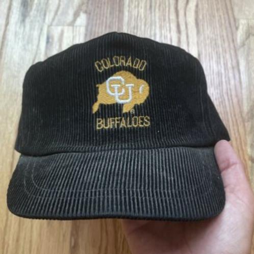 Vintage 80's Colorado Buffaloes Corduroy Snapback Hat