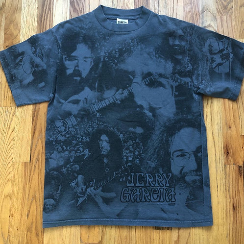 Vintage Tultex Jerry Garcia All Over Print T Shirt Tee Sz L