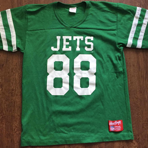 7feeeae3a62 THROWBACK JERSEY JSA Previous Vintage Rawlings New York Jets Al Toon T  Shirt ...