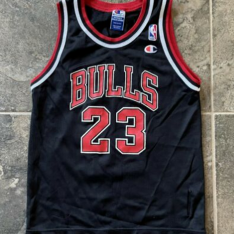 Champion Chicago Bulls Michael Jordan Jersey Sz Youth M