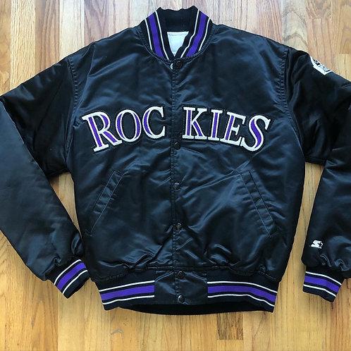 Vintage Starter Colorado Rockies Satin Bomber Jacket Sz S/M