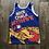 Thumbnail: Vintage Starter Kansas Jayhawks Basketball All Over Print Jersey Sz M