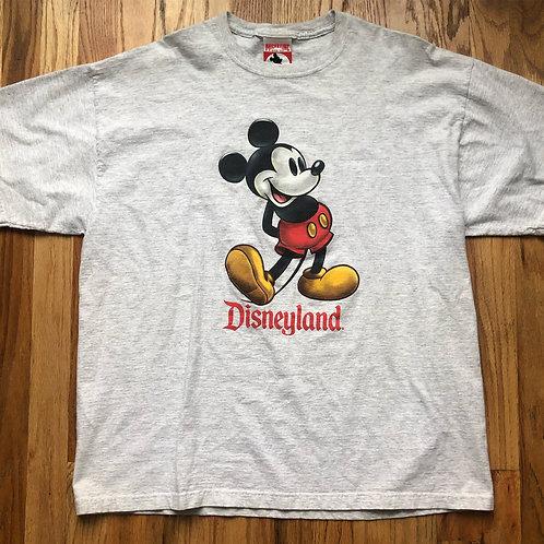 Vintage Disneyland Mickey Mouse Heather Gray T Shirt Tee Sz L