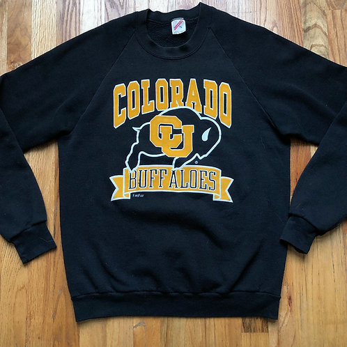 Vintage Jerzees Colorado Buffaloes Crewneck Sweatshirt Sz L