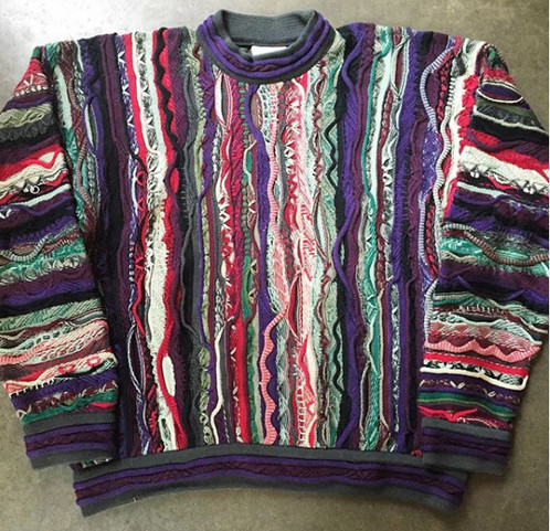 Vintage Coogi Australia Textured Crewneck Sweater Sz L