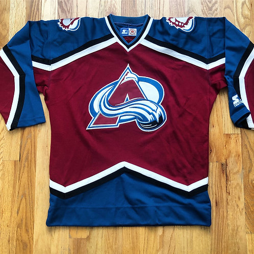 Vintage Starter Colorado Avalanche Jersey Sz S