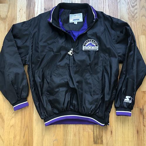 Vintage Starter Colorado Rockies Windbreaker Jacket Sz M
