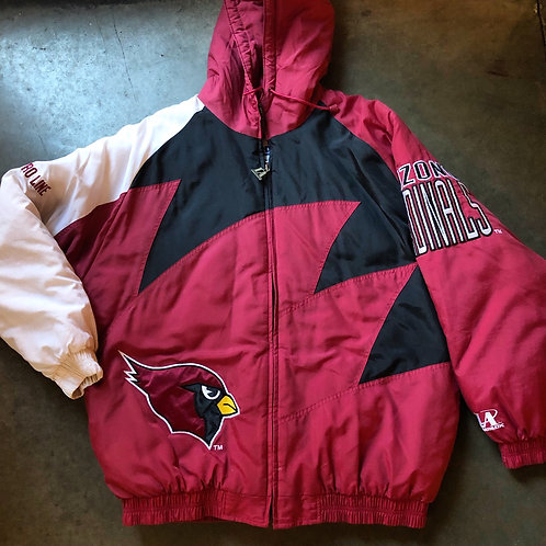 Vintage Logo Athletic Arizona Cardinals Sharktooth Puffer Jacket Sz XL