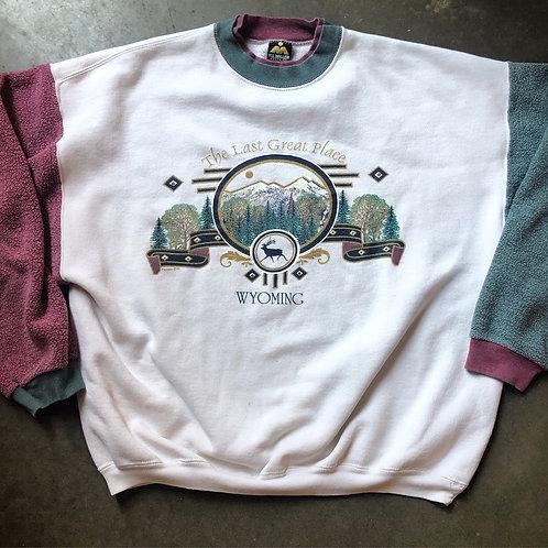 Vintage HL Miller Wyoming Crewneck Sweatshirt Sz L/XL