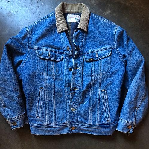 Vintage Lee Storm Rider Blanket Lined Denim Jean Jacket Sz M