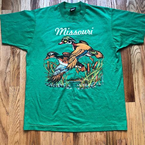 Vintage Screen Stars Missouri Ducks T Shirt Tee Sz L/XL