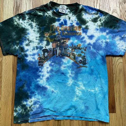 The Beatles Yellow Submarine Blue Tie Dye T Shirt Sz L