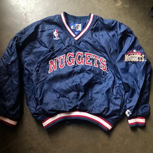 Vintage Starter Denver Nuggets Windbreaker Jacket Sz XL