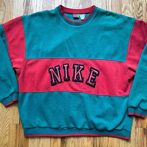 Vintage Nike Gray Tag Spell Out Crewneck Sweatshirt Sz XL