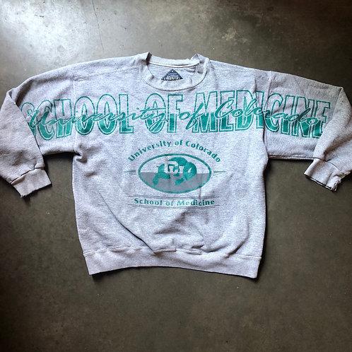 Vintage Colorado Buffaloes School Of Medicine Crewneck Sweatshirt Sz M/L $32 Shi