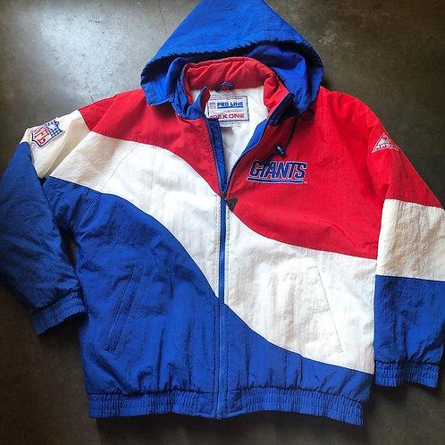 Vintage Apex One New York Giants Puffer Jacket Sz L