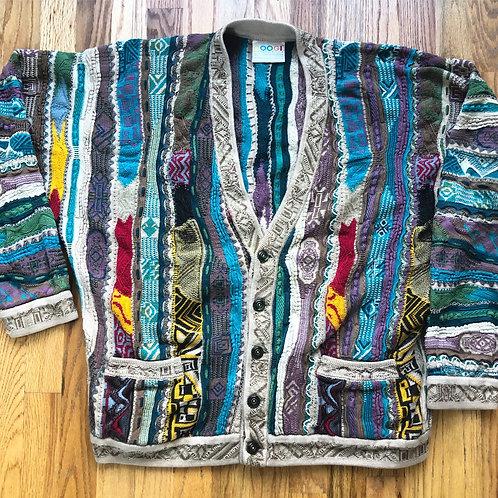 Vintage Coogi Textured Biggie Cardigan Sweater Sz L/XL