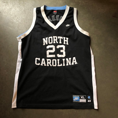 Nike North Carolina Tar Heels Michael Jordan 1982 Black Jersey Sz XL
