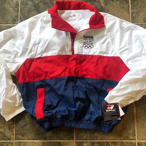 NWT Vintage Kodak 1992 Olympics Windbreaker Jacket Sz XL