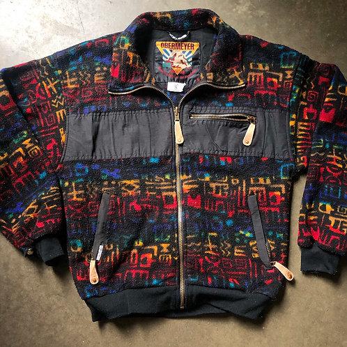 Vintage Obermeyer Fleece Bomber Jacket Sz S