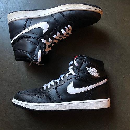 Nike Air Jordan 1 Retro High Yin & Yang Black Sz 12